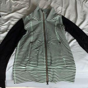 Lululemon Daily Yoga Jacket Mint Stripe Size 2